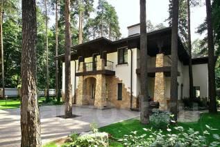 Проект дома из пеноблоков ПБ 3-167 строительство домов. 200-300 кв. м., 2 этажа, 10 комнат, бетон