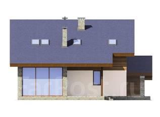 Проект дома из пенобетона ПБ 2-175. 300-400 кв. м., 2 этажа, 7 комнат, бетон