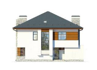 Проект дома из газобетона ПБ 2-238. 300-400 кв. м., 2 этажа, 7 комнат, бетон
