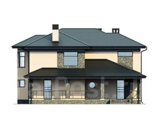 Проект дома из газобетона ПБ 2-250. 400-500 кв. м., 2 этажа, 9 комнат, бетон