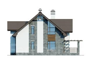 Проект дома из газобетона ПБ 1-222. 200-300 кв. м., 2 этажа, 9 комнат, бетон