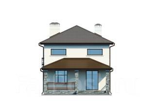 Проект дома из пенобетона ПБ 1-134. 200-300 кв. м., 2 этажа, 10 комнат, бетон