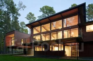 Проект дома из газобетона 1-82П. 100-200 кв. м., 2 этажа, 4 комнаты, бетон