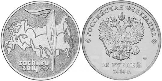 монета Сочи