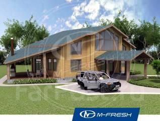 M-fresh Belux wood-зеркальный (Проект дома из клееного бруса! ). 200-300 кв. м., 2 этажа, 5 комнат, дерево