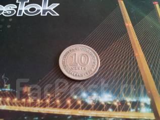 Экзотика! Малайя (Британский Борнео). 10 центов 1948 года.