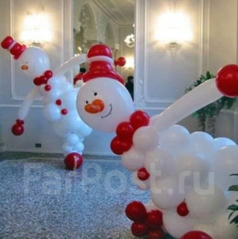 Как сделать снеговика из шариков воздушных своими