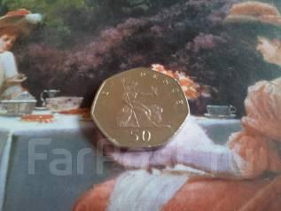 Великобритания. 50 пенсов 1979 г. Большая красивая монета!