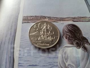 Новая Зеландия. 50 центов 1975 г. Флот! Большая красивая монета!