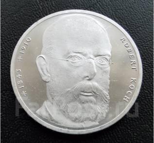 10 марок.1993 г J. ФРГ. Роберт Кох. Серебро. Proof.