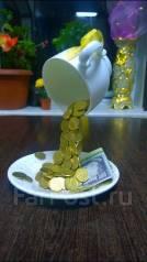 """Оригинальный сувенир """"парящая чашка с деньгами"""". Под заказ"""