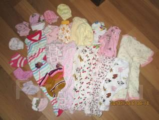Большой лот домашней одежды на новорожденную девочку. Рост: 50-60, 60-68 см