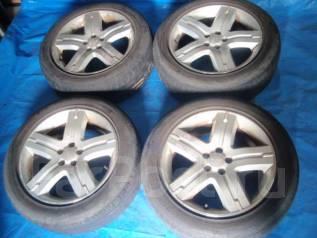 Шины с дисками Bridgestone Subaru лето 215/55 R17. 7.0x17 ET48