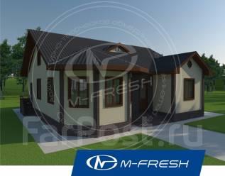 M-fresh Organic-зеркальный (Проект дома с летней мансардой). 100-200 кв. м., 1 этаж, 4 комнаты, дерево