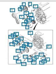 Ремкомплект системы газораспределения. Isuzu Bighorn, UBS73GW Двигатели: 4JX1 DD, 4JX1