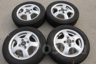 155/65 R13 Dunlop Graspic DS-2 литые диски 4х100 R13. 4.5x13 4x100.00 ET45
