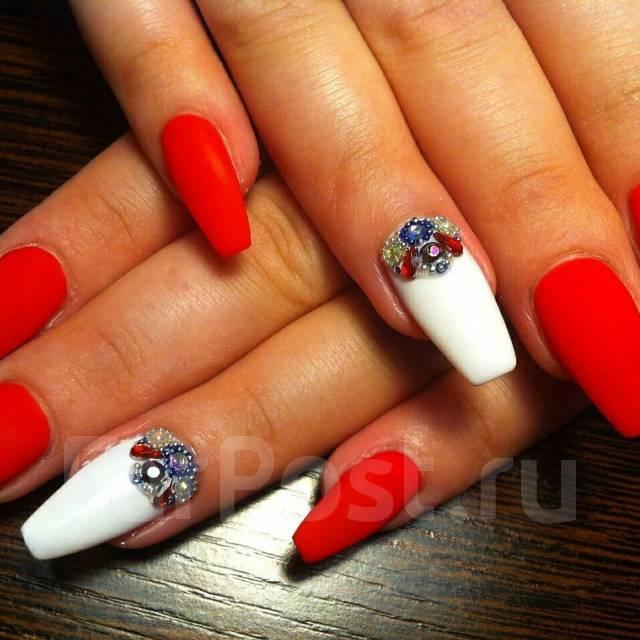 Дизайн ногтей формы пуанты