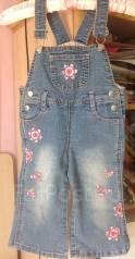 Комбинезоны джинсовые. Рост: 74-80, 80-86 см
