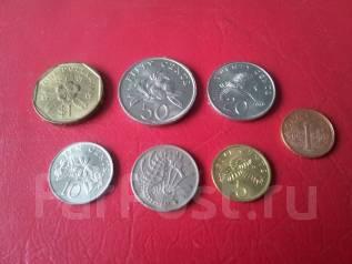 7 монет Сингапура без повторов.