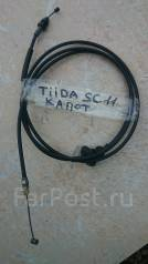 Тросик замка капота. Nissan Tiida Latio, SC11