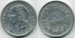 5 франков Франция 1947