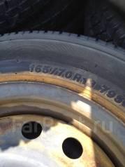 Летняя резина 165/70R13 на железных дисках по 500 рублей за колесо. x13 4x100.00