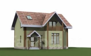 143м2 039-Zz Дом, который вы построите в этом году. 100-200 кв. м., 2 этажа, 4 комнаты, бетон