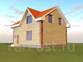 143м2 039-Z Дом, который вы построите в этом году. 100-200 кв. м., 2 этажа, 4 комнаты, бетон