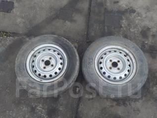 Продам пару колес 165 R13 6 P. R. (81). x13 4x100.00 ЦО 53,0мм.