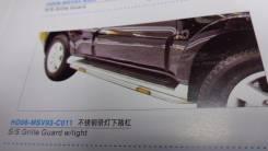 Накладка на порог. Mitsubishi Pajero