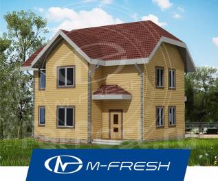 M-fresh-Orlando-зеркальный (Проект деревянного дома с 6 комнатами! ). 100-200 кв. м., 2 этажа, 6 комнат, дерево
