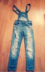 Комбинезоны джинсовые. Рост: 146-152, 152-158 см