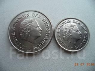 Нидерланды, 25 центов 1963 + 10 центов 1972