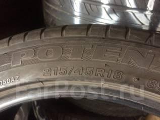 Bridgestone Potenza RE050. Летние, износ: 20%, 2 шт