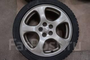 215/45R17 Зимние шины с литыми дисками Subaru. Без пробега по РФ. 7.0x17 5x100.00 ET53 ЦО 56,0мм.