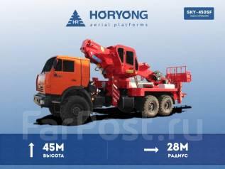 Horyong Sky. Автовышка Horyong SKY-450SF, рабочая высота 45 м. горизонт 28 м., 45 м. Под заказ