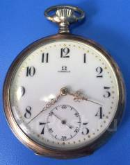 Антикварные карманные часы Omega Grand Prix Paris 1900 Серебро. Оригинал