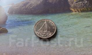 Экзотика. Багамы. 25 центов 1985 года. Флот.