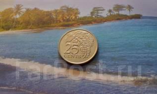 Экзотика! Тринидад и Тобаго. 25 центов 2007 года. Флора.