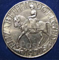 Англия 1 крона 1977 г. Елизавета на коне.