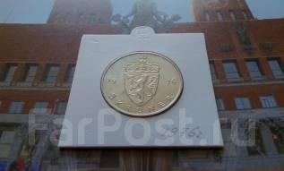 Норвегия. 5 крон 1976 года. Большая красивая монета!