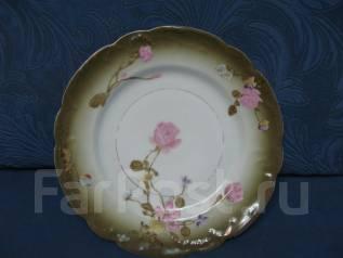 Старинная форфоровая тарелка. Оригинал