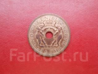 Родезия и Ньясаленд 1 пенни 1962 года UNC .