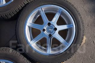 205/55R16 Зимние шины с литыми дисками Rays Versus. Без пробега по РФ. 7.0x16 4x100.00 ET32 ЦО 65,0мм.