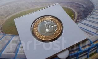 Бразилия. 1 реал 2010 года. Биметалл. Большая красивая монета!