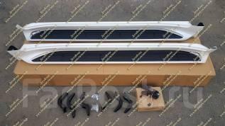 Подножки с подсветкой Land Cruiser 200 (Ленд Крузер) белые перл. с 16г. Tesla Model S Toyota Land Cruiser, VDJ200, URJ202W, UZJ200W, URJ202, UZJ200