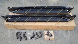 Подножки с подсветкой Land Cruiser 200 (Ленд Крузер) черные с 16г. Tesla Model S Toyota Land Cruiser, VDJ200, URJ202W, UZJ200W, URJ202, UZJ200
