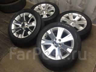 Комплект Колес 225/55R18 Dunlop + Литье Mitsubishi / Япония №4055. 7.0x18 5x114.30 ET38