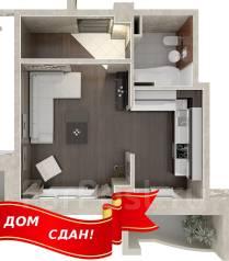 1-комнатная, улица Ватутина 4д. 64, 71 микрорайоны, застройщик, 42 кв.м.