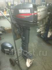 Yamaha. 30,00л.с., 2х тактный, бензин, нога X (635 мм), Год: 2008 год